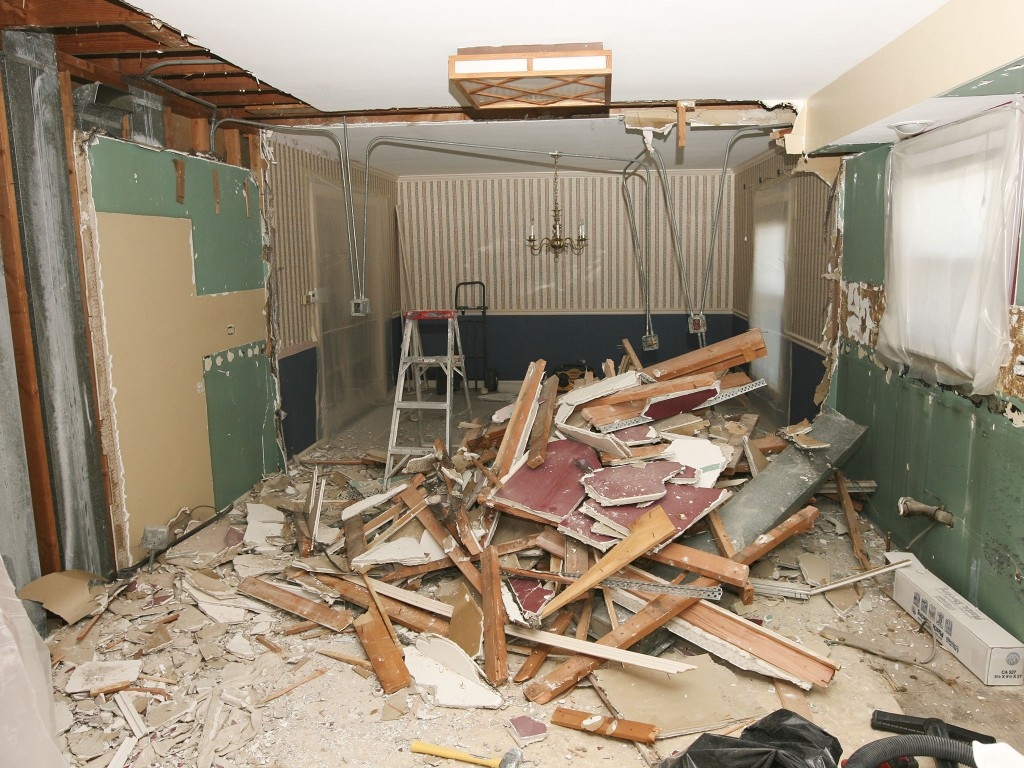 Demolition in full speed - still want to expand kitchen into dining room?
