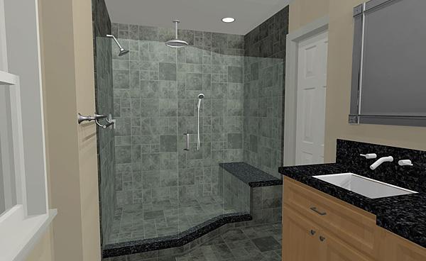 3d custom shower design