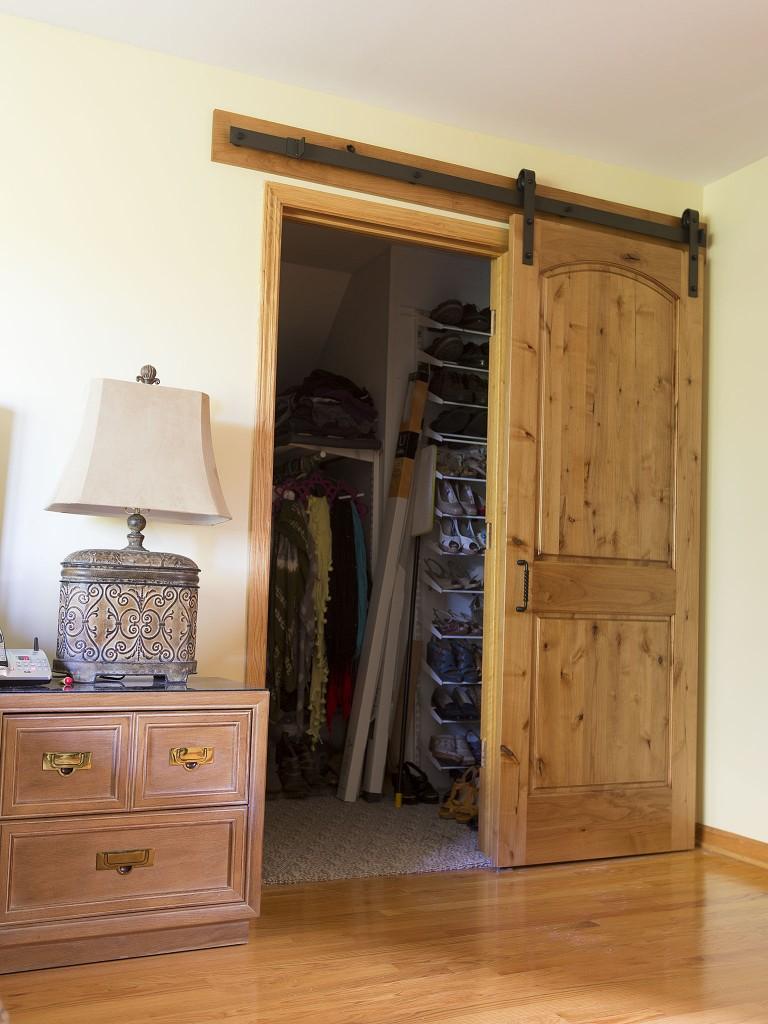 Closet door opened