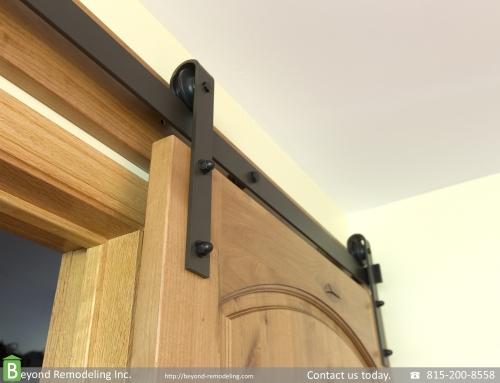 Knotty alder doors installation